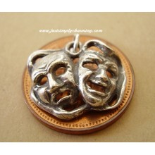 Comedy & Tradegy Theatre Mask Sterling Silver Charm