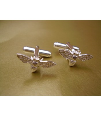 Sterling Silver Bee Cufflinks